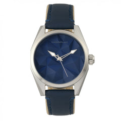 Morphic M59 Series Leather-Overlaid Canvas-Band Watch - Silver/Blue