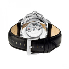 Heritor Automatic Lennon Semi-Skeleton Leather-Band Watch - GENT.ONE