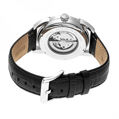 Heritor Automatic Marcus Marbled-Dial Leather-Band Watch - GENT.ONE
