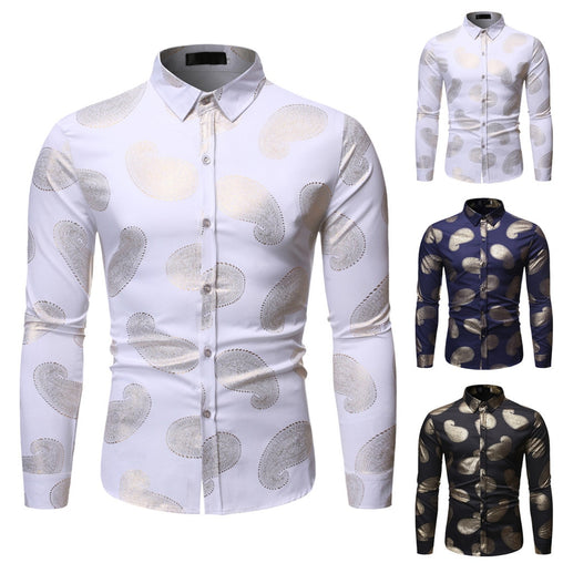 JAYCOSIN Fashion Slim Sexy Shirt Men Hot Stamping Long Sleeve Shirt Camisa Masculina Singer Stage Shirts Mens Shirt 19August27
