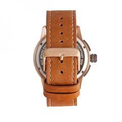 Morphic M61 Series Chronograph Leather-Band Watch w/Date - Rose Gold/Tan