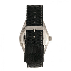 Morphic M69 Series Canvas-Band Watch - Silver/Black