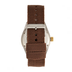 Morphic M69 Series Canvas-Band Watch - Silver/Brown