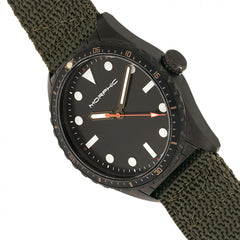 Morphic M69 Series Canvas-Band Watch - Black/Olive
