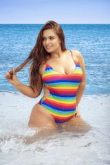 Mapale 6623X One Piece Rainbow Swimsuit