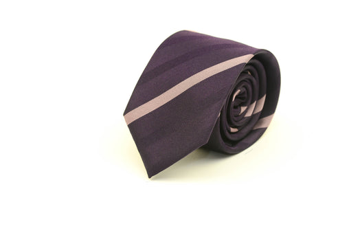 Purple Stripe Silk Necktie from Ocean Boulevard