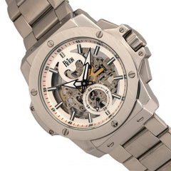 Reign Commodus Automatic Skeleton Bracelet Watch - Silver