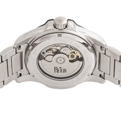 Reign Henley Automatic Semi-Skeleton Bracelet Watch - Silver/White