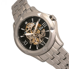 Reign Dantes Automatic Skeleton Dial Bracelet Watch - Silver/Black