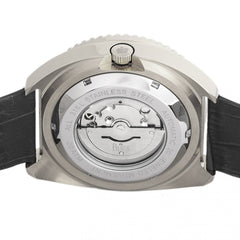 Reign Quentin Automatic Pro-Diver Leather-Band Watch w/Date - Silver