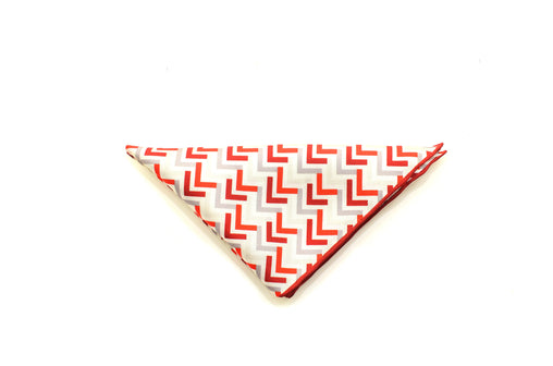 Ocean Boulevard Red Silk pocket square
