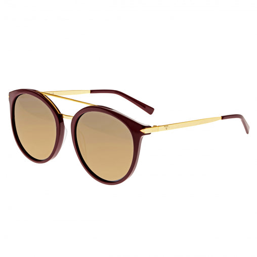 Sixty One Moreno Polarized Sunglasses - Burgandy/Gold