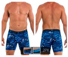 Undertech 347730-466 2Pk Printed and Solid Boxer Briefs