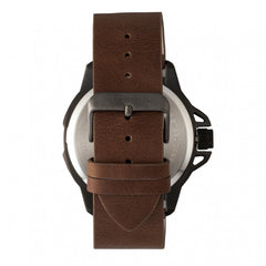 Breed Bryant Leather-Band Watch w/Date - Brown/Gold - GENT.ONE