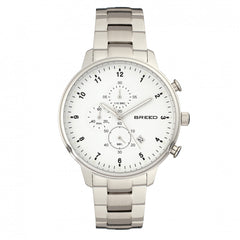 Breed Holden Chronograph Bracelet Watch w/ Date - Silver