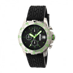 Breed Socrates Chronograph Men's Watch w/ Date  -  Silver/Green