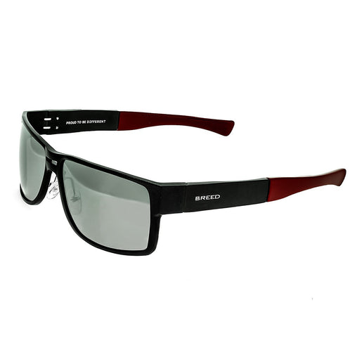 Breed Stratus Aluminium Polarized Sunglasses - Black/Silver