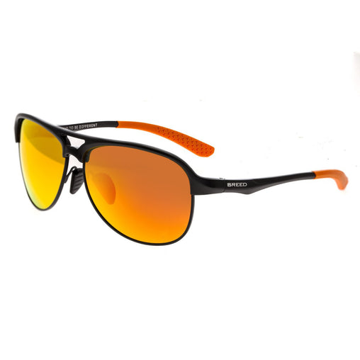 Breed Jupiter Aluminium Polarized Sunglasses - Black/Red-Yellow