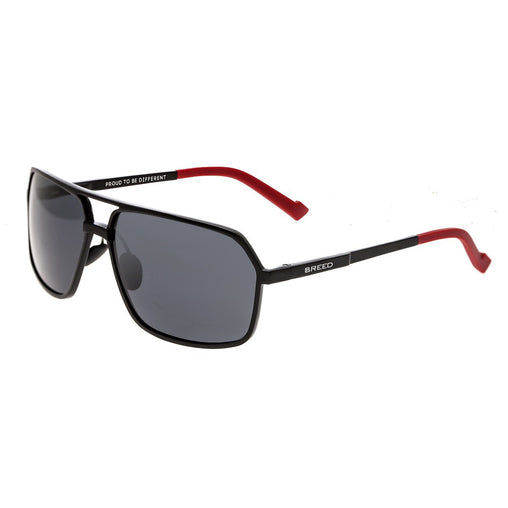 Breed Fornax Aluminium Polarized Sunglasses - Black/Black