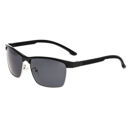 Breed Bode Aluminium Polarized Sunglasses - Black/Black