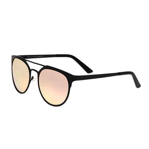 Breed Mensa Titanium Polarized Sunglasses - Black/Rose Gold