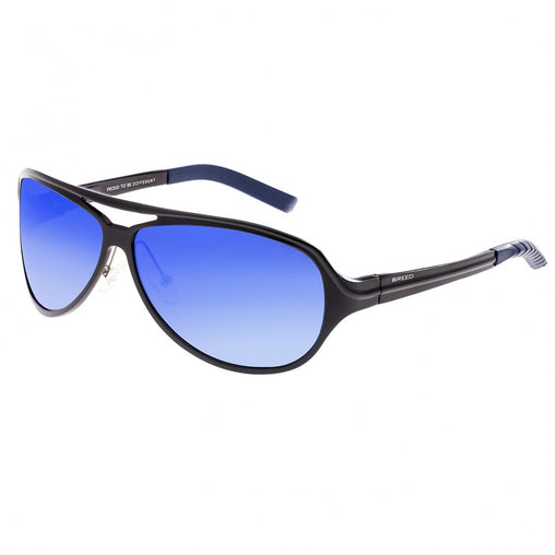 Breed Langston Aluminium Polarized Sunglasses - Black/Blue