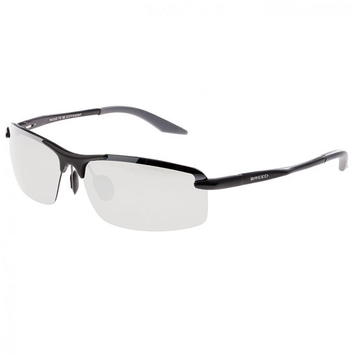 Breed Lynx Aluminium Polarized Sunglasses - Black/Silver