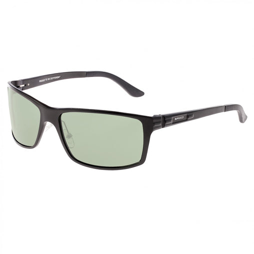 Breed Kaskade Aluminium Polarized Sunglasses - Black/Black
