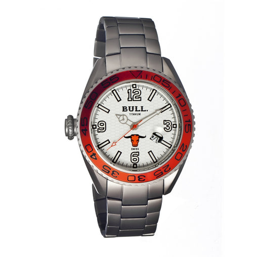 Bull Titanium Hereford Men's Swiss Bracelet Watch - GENT.ONE