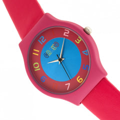 Crayo Jubilee Strap Watch - Hot Pink
