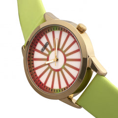 Crayo Electric Leatherette Strap Watch - Light Green