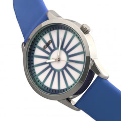 Crayo Electric Leatherette Strap Watch - Blue