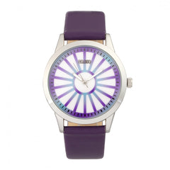 Crayo Electric Leatherette Strap Watch - Purple