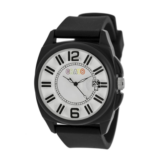 Crayo Sunset Unisex Watch w/Magnified Date - Black