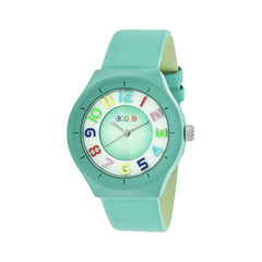 Crayo Atomic Leather-Band Watch - Turquoise