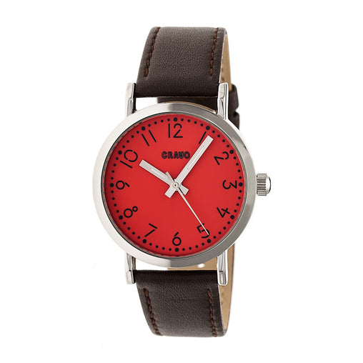 Crayo Pride Leather-Band  Watch - Red