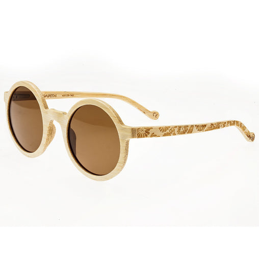 Earth Wood Canary Polarized Sunglasses - Bamboo/Brown