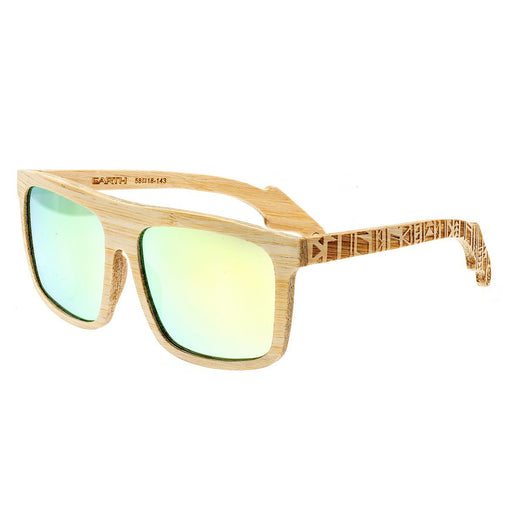 Earth Wood Aroa Polarized Sunglasses - Bamboo/Yellow