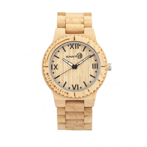 Earth Wood Bighorn Bracelet Watch - Khaki/Tan