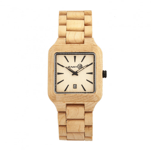 Earth Wood Arapaho Bracelet Watch w/Date - Khaki/Tan