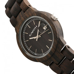 Earth Wood Biscayne Bracelet Watch w/Date - GENT.ONE