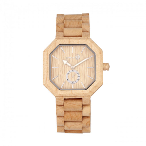 Earth Wood Acadia Bracelet Watch - Khaki/Tan