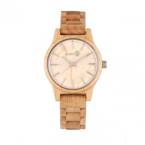 Earth Wood Tuckahoe Marble-Dial Bracelet Watch - Khaki/Tan