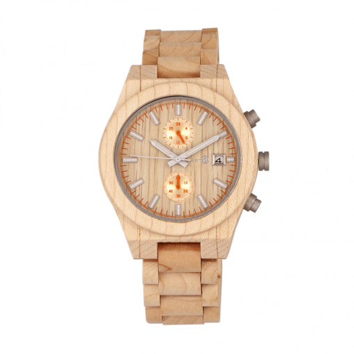 Earth Wood Castillo Bracelet Watch w/Date - Khaki