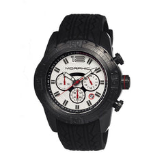 Morphic M27 Series Chronograph Men's Watch w/ Date - Black/White