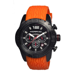 Morphic M27 Series Chronograph Men's Watch w/ Date - Black/Orange