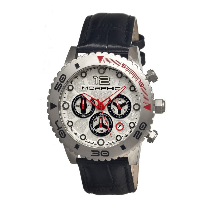 Morphic M33 Series Chronograph Men's Watch w/ Date - Silver