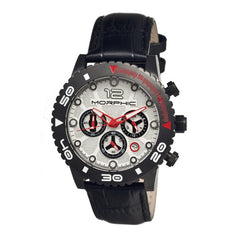 Morphic M33 Series Chronograph Men's Watch w/ Date  -  Black/Silver