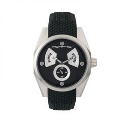 Morphic M34 Series Men's Watch w/ Day/Date - Silver/Black