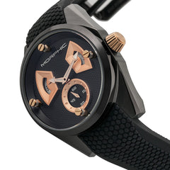 Morphic M34 Series Men's Watch w/ Day/Date - Black/Rose Gold
